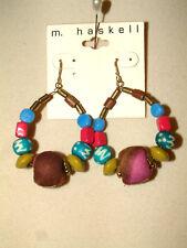 #1061, Pretty Drop/Dangle Earrings From M. Haskell, Designed For Pierced Ears