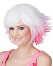 Fantasia White, Pink, Fuchsia Gradient Pixie Costume Wig