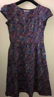 Ladies Seasalt Briarfield Dress Size 12 Floral Unique Side Zip Autumn Versatile
