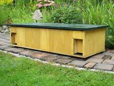 DOPPEL Igelfutterhaus 100x40x22 Boden,Trennwand,Dach ohne Werkzeug abnehmbar NEU