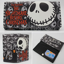 Anime The Nightmare Before Christmas Jack Wallet Purse Layers Holder Rectangle