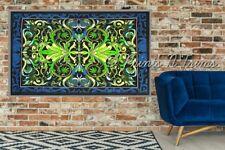 Cannabis Tapestry Marijuana Leaf Wall Hanging Hippie Dorm Decor Weed Bedspread