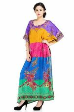 Dress Long Maxi Kaftan Women Size Plus Boho Caftan Gown Hippy Tunic Night Sleeve