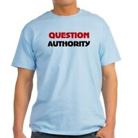CafePress QUESTION AUTHORITY Ash Grey T Shirt 100% Cotton T-Shirt (46475282)