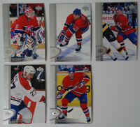 1996-97 Upper Deck UD Series 2 Montreal Canadiens Team Set of 5 Hockey Cards