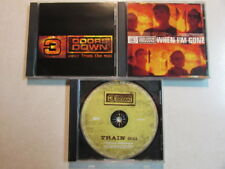 3 DOORS DOWN TRAIN, WHEN I'M GONE, AWAY FROM THE SUN SET OF 3 PROMO CD SINGLES