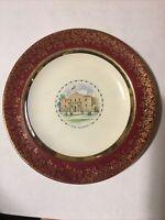 Vintage Salem China Co. U.S.A. Plate 23 Karat Gold Red The Alamo