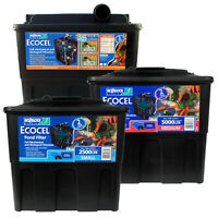 HOZELOCK ECOCEL POND FILTER FISH GRAVITY MEDIA BOX SYSTEM GARDEN KOI GOLDFISH