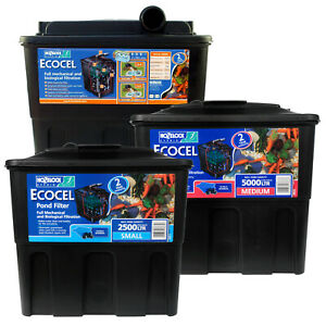 HOZELOCK ECOCEL POND FILTER FISH GRAVITY MEDIA BOX SYSTEM GARDEN KOI GOLDFISH