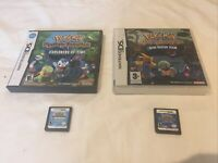 Pokemon Mystery Dungeon: Blue Rescue Team + Explorers of Time(Nintendo DS, 2006)