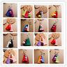 Trendy Mix-Color Pom Ball Chain Tassel Pendant Key Bag Car Keychain Handbag Ring