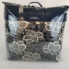 New Ralph Lauren Queen Comforter- DURANT KIRA Navy Blue