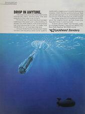 4/90 PUB LOCKHEED SANDERS ASW SYSTEMS SUBMARINE SONAR NAVY MARINE ORIGINAL AD