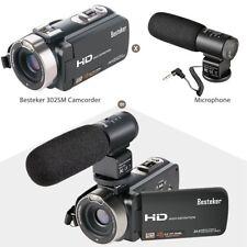 Besteker HDV-302M HD 1080P LCD Digital Video Camera Audio Camcorder 16x Zoom Mic