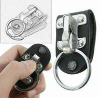 Quick Release Stainless Steel Detachable Key Chain Ring Keyring Clip Holder I6E0