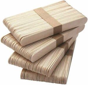 1,000 x Eyebrow Large Wooden Wood Disposable Spatulas Wax Waxing Sticks