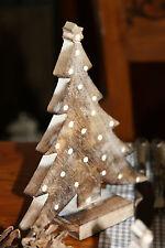 * Weihnachtsbaum Tannenbaum Braun mit Punkten Dekoration shabby style Landhaus
