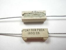 180 ohm 2 Watt 5% Wire Wound Power Resistor (NOS, New Old Stock)(QTY 10 ea)D58