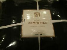 Pottery Barn Teen Trent full queen Comforter  black New with tag
