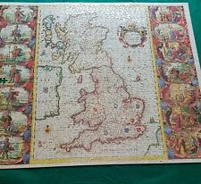 WADDINGTONS 1250 PIECE JIGSAW ANTIQUE BRITISH ISLES MAP