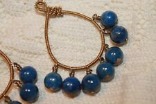 Kristen McCloud 14k gold-fill coiled teardrop hoop earrings Lapis Lazuli jewelry