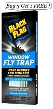 NEW Black Flag Window Fly Trap  Catches All Flying Insects - Contains 4 Traps