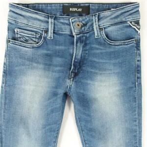 Ladies Womens Replay WH689 NEW LUZ Stretch Skinny Blue Jeans W26 L30 UK Size 6