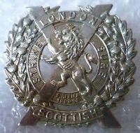 Badge- Vintage London Scottish Regiment Cap Badge (WM, Genuine*)