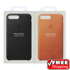 100% Genuine Apple OEM Soft Leather Case Cover iPhone 7 PLUS 8 + Black Brown