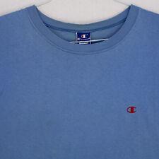 CHAMPION Vtg 90s Made In USA LIGHT BLUE CREW NECK T-SHIRT MEN'S XXL 2XL