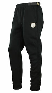 Zipway NBA Men's Brooklyn Nets Gold Accent Track Pants, Black
