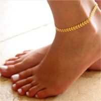 Women Gold Barefoot Ankle Chain Anklet Bracelet Foot Jewelry Sandal Beach