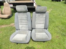 1987 1988 CHRYSLER LEBARON BUCKET SEATS w/  Headrest BLUE CLOTH