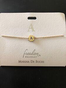 Freedom Bracelet by Marina De Buchi goldtone Initial (A-N)