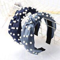 Women's Headband Hairband Knot Wide Pearl Wide Hair Bands Hair Hoop Headwear