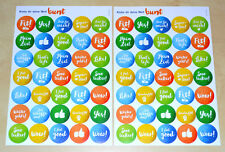 Weight Watchers 70x Sticker - Feel Good SmartPoints Start Starter Aufkleber 2016