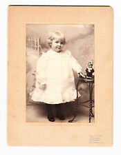vintage Cabinet Photo Little Girl Lacy Dress Sweet Expression Doll Nashville TN