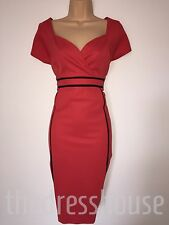 BNWT Red black Size 12 Savoir Slimming support Pencil wiggle Dress