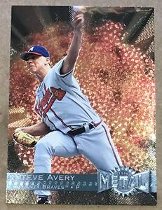 1996 STEVE AVERY FLEER METAL UNIVERSE CARD #126 ATLANTA BRAVES