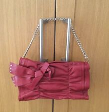 STYLISH DEEP RED / NINE WEST BAG / WITH DETACHABLE LONG STRAP / BARELY USED