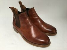 UK Size 9 Mens Ralph Lauren Made in Italy Purple Label Tan Chelsea Boots
