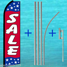 SALE PATRIOTIC FLUTTER FEATHER FLAG + POLE MOUNT KIT Tall Swooper Banner Sign