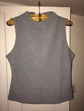 New Look Size 14 Smart Top Vest Grey BNWT With Tags Ribbed