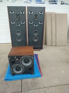 Rare Phase Linear Andromeda III Speakers + Sub Untested