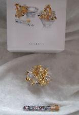 """Swarovski Retired Secrets """"Flower Basket/Jewelry Box"""" w/crystals 2000 Mib"""