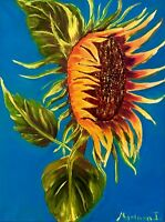 painting on canvas original Tuscany sunflower flowers oil