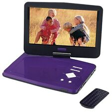 "PORTABLE DVD PLAYER 10"" SCREEN Purple Kids Happy ScratchedLid FacebookFun Selfie"