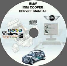 BMW MINI COOPER S D R50 R52 R53 R55 R56 FACTORY SERVICE & REPAIR MANUAL ON DVD