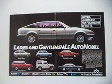 advertising Pubblicità 1983 AUSTIN MINI/METRO/RANGE ROVER/LAND/TRIUMPH ACCLAIM