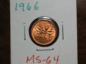 1966 Canada small cent  MS 64
